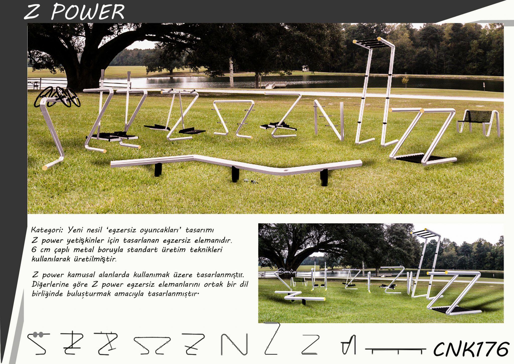 Cemer Ulusal Tasarım Yarışması – Yeni Nesil Oyuncaklar Kategori: Egzersiz Oyuncakları Kategorisi Derece: Mansiyon Ödülü Proje Adı: Z Power Yarışmacı Ekip: Nazım Dağdeviren, Emel Topuz, Ebru Koçak, İlknur Şengören