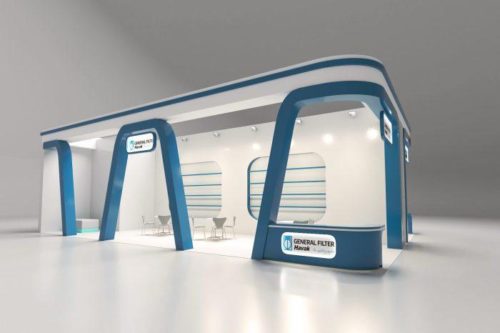 havak fuar standı tasarımı 3 kolon içmimarlık